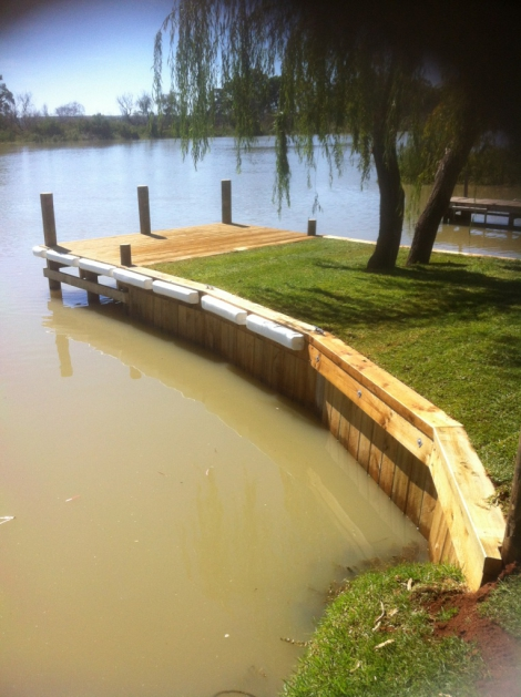 Retaining Wall/Jetty at Greenbanks