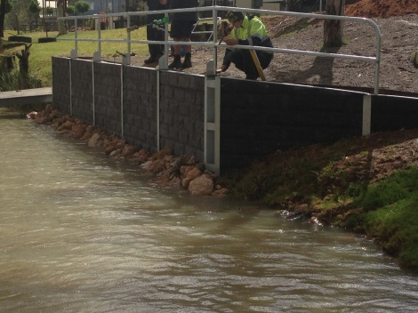 Bowhill Riverfront Community Water Inlet Retaining Wall