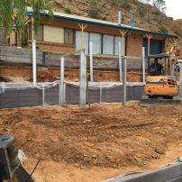 5.  Commencing second level Retaining Wall