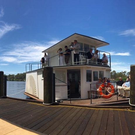 Mannum Wharf and The P.S. Mayflower