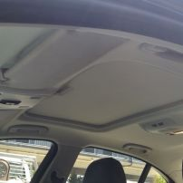 bmw headlining with sunroof retrimmed in circular knit velour