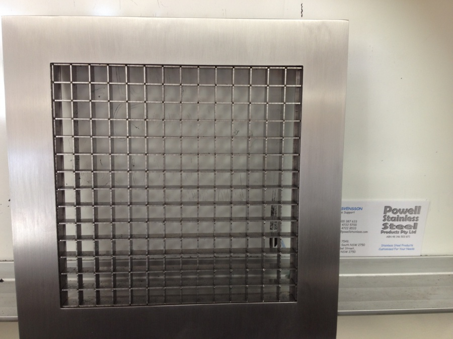 Metal Egg Crate Grille : Stainless steel egg crate grilles powell
