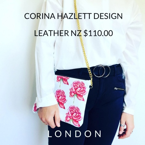 leather crossbody bag peonie