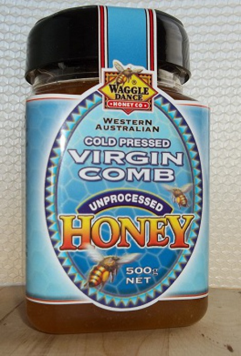 Cold Pressed Virgin Comb Honey 500g