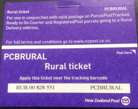 Rural Delivery Ticket