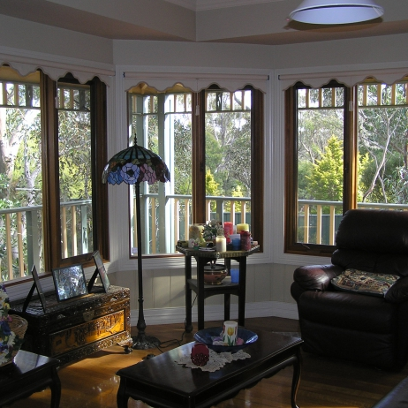 Inside bay window