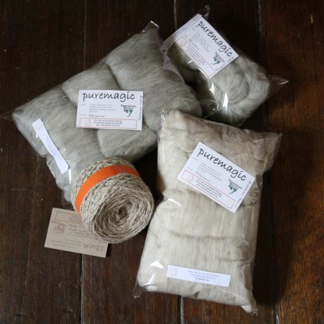 TEMP. UNAVAILABLE   PURE MAGIC BATT ~ Blended WALLABY fur and Superfine Merino ~ ALL TASMANIAN fibre