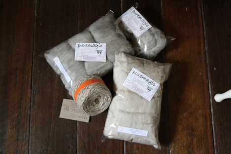 FIBRE ~ PURE MAGIC BATT ~ Blended WALLABY fur and Superfine Merino ~ ALL TASMANIAN fibre