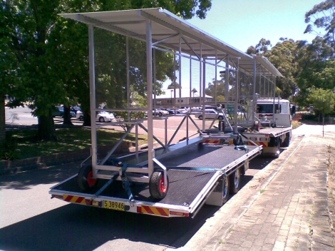 Trailer transport available as well.