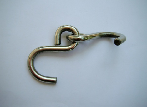 Large 6mm Blunt Ended Double S Hooks