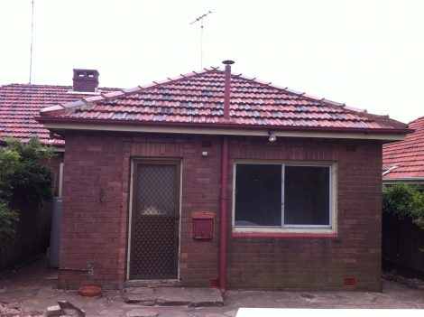C Rear of House - Before