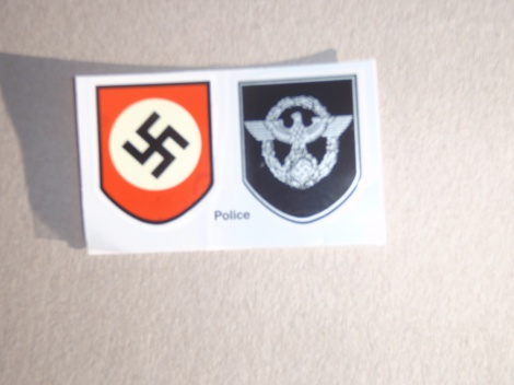 German WW2 Police Helmet Decals