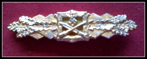 GERMAN CLOSE-COMBAT CLASP IN GOLD