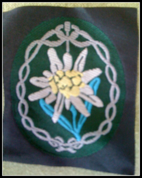 GERMAN ARMY EIDELWEISS BADGE