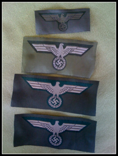 GERMAN ARMY BREAST  AND CAP EAGLES