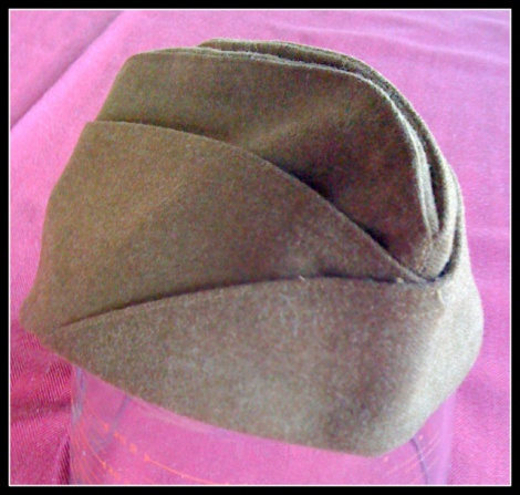 ORIGINAL WW2  US OVERSEAS GARRISON CAP