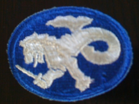 WW2  US CLOTH BADGE (with lion)