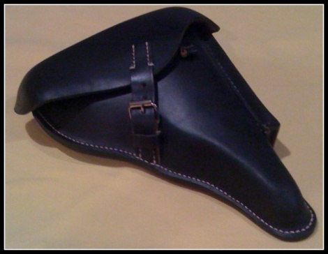 LEATHER LUGER PO8 HOLSTER