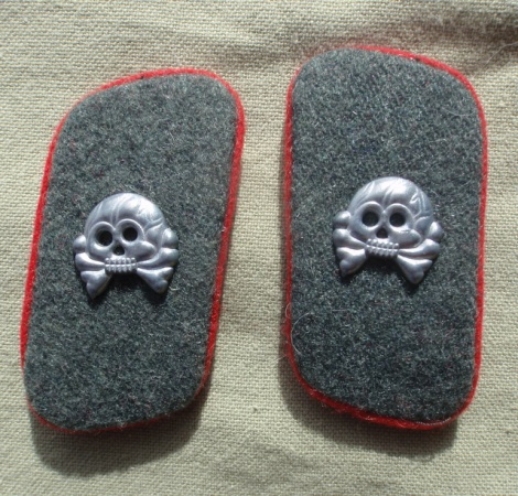 PANZER FIELD GREY COLLAR PATCHES