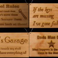 4 x pine signs for Dad's