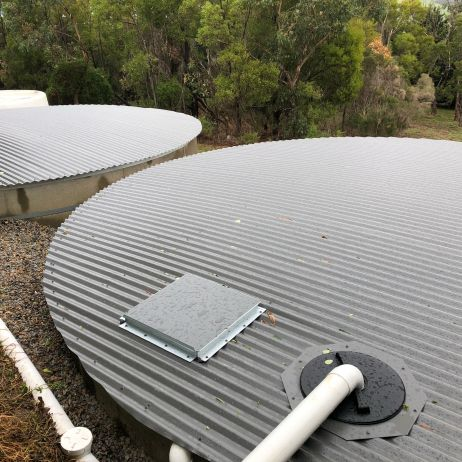 Concrete tank Re-roofing