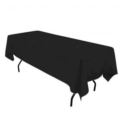 Black Tablecloth for Trestle Table