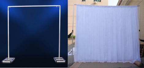 Backdrop Frame with curtain