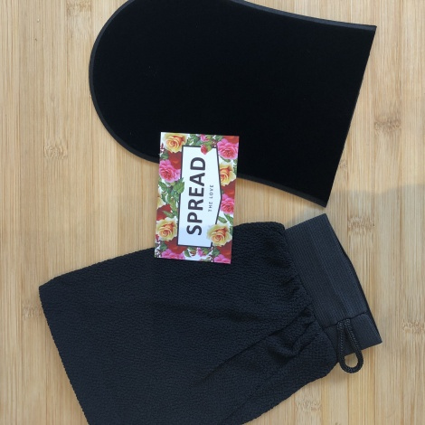 Tan Application + Exfoliating Mitt duo