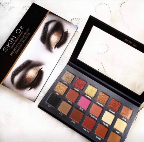 Skin O2 Metallic & Nude Shadow Palette GC edition
