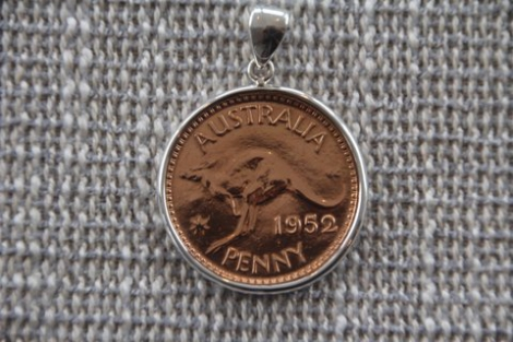Sterling Silver encased Australian Penny (before 1964)