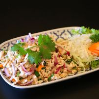 Larb gai (Traditional thai mince chicken) (Med)