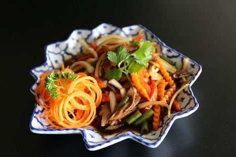 Duck with ginger