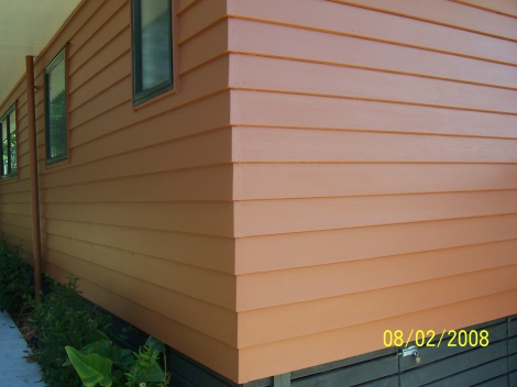 cedar weatherboards finished