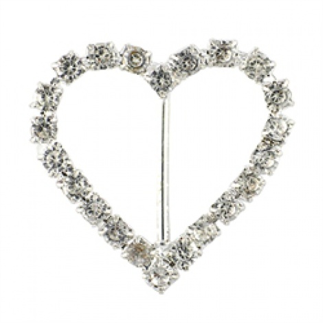 DIAMANTE HEART BUCKLE