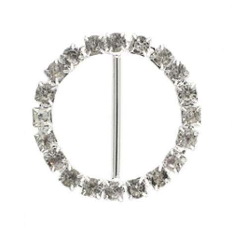 DIAMANTE ROUND BUCKLE