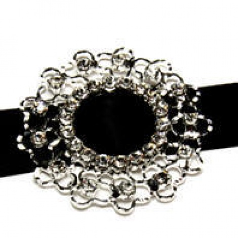 DIAMANTE BUCKLE WEAVE