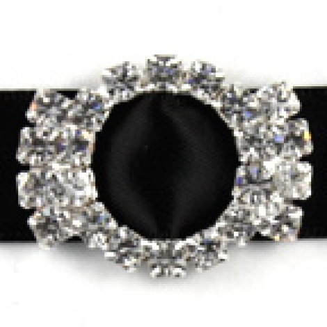 DIAMANTE BUCKLE ROUNDCAPS