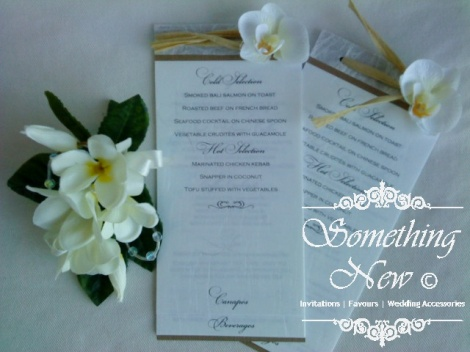 SARAH - NOTEPAD MENU CARD