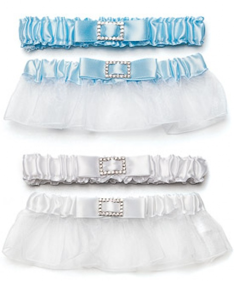 CLASSIC GARTER WITH BUCKLE BLUE