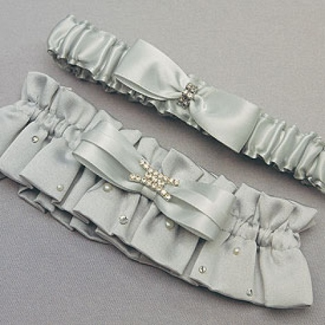 PLATINUM GARTER SET