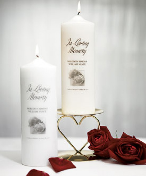 PERSONALISED MEMORIAL PILLAR CANDLE - WHITE