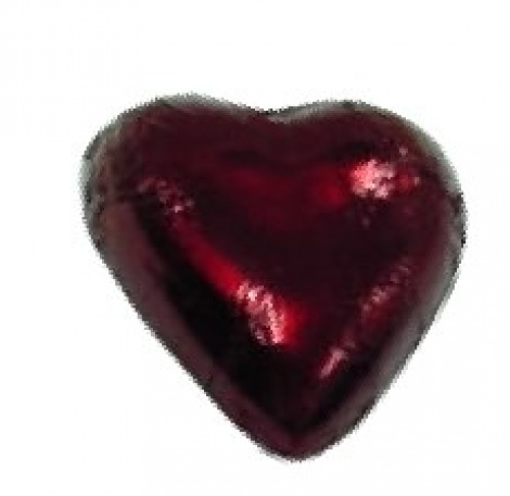 CHOCOLATE HEART BURGUNDY 500G