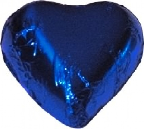 CHOCOLATE HEART ROYAL BLUE 500G