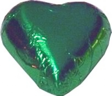 CHOCOLATE HEART GREEN 500G