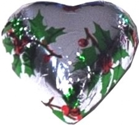 CHOCOLATE HEART HOLLY 500G
