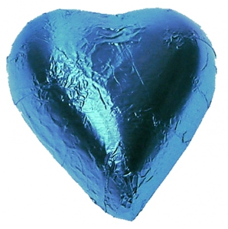 CHOCOLATE HEART ICE BLUE 500G
