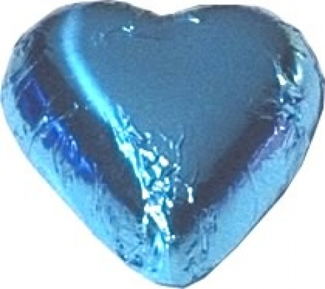 CHOCOLATE HEART LIGHT BLUE 500G