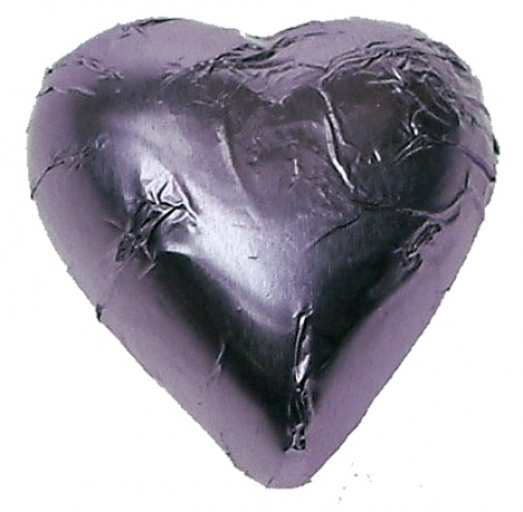 CHOCOLATE HEART LILAC 500G