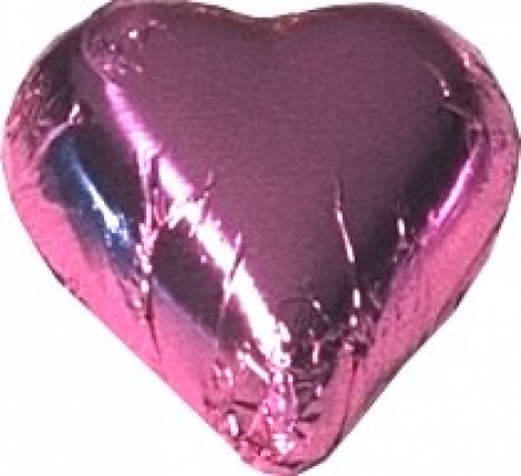 CHOCOLATE HEART PINK 500G