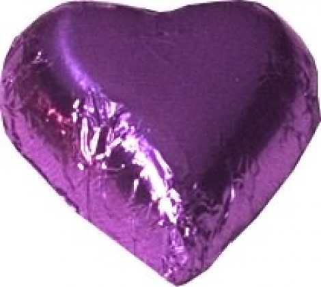 CHOCOLATE HEART PURPLE 500G